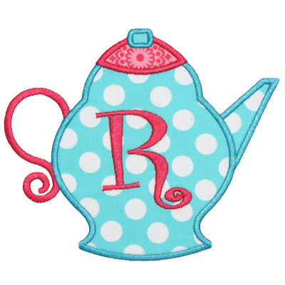 Tea Pot Applique - embroidery-boutique