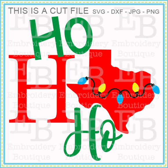 Ho Ho Ho Texas SVG - embroidery-boutique