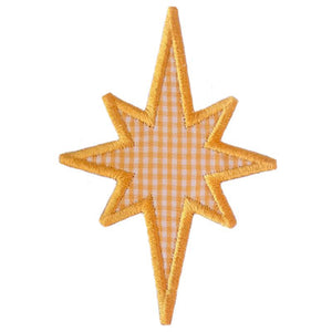 North Star Applique - embroidery-boutique