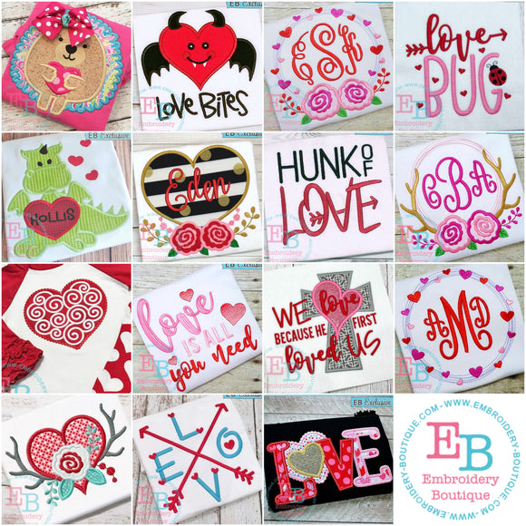 Love Bundle - embroidery-boutique