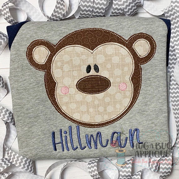 Monkey Bean Stitch Applique