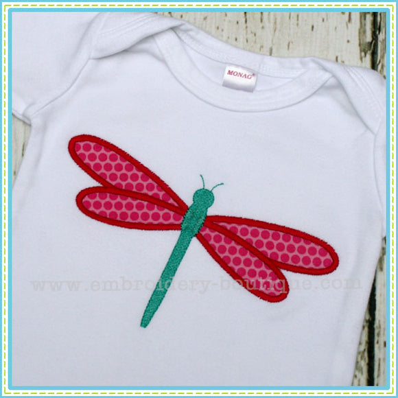 Dragonfly 2 Applique - embroidery-boutique