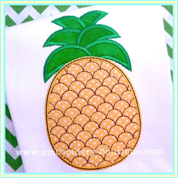 Pineapple 2 Applique - embroidery-boutique