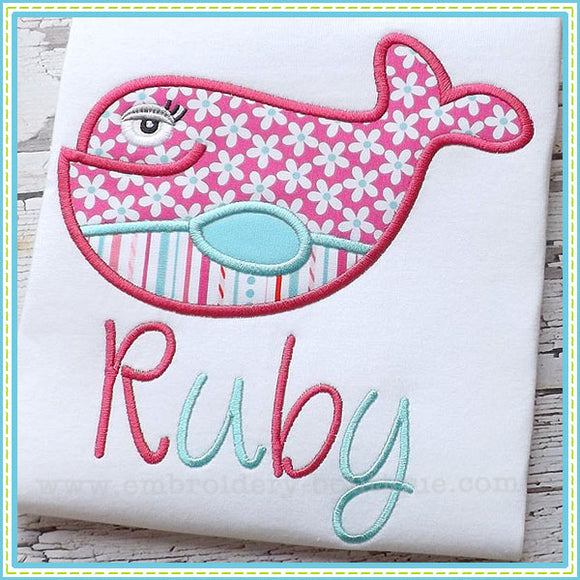 Girly Fish Applique, Applique