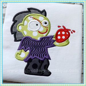 Zombie Heart Applique - embroidery-boutique