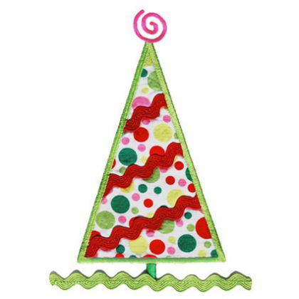 Ric Rac Christmas Tree Applique - embroidery-boutique