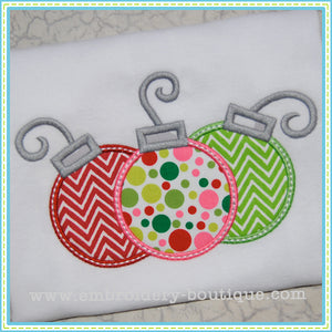 3 Ornaments Applique - embroidery-boutique