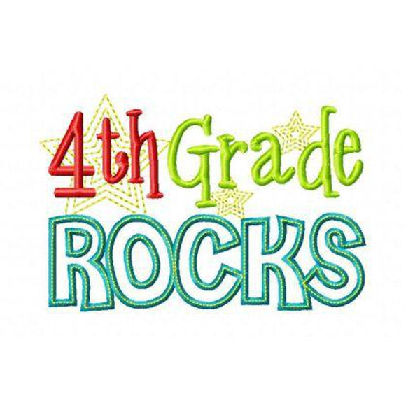 Fourth Grade Rocks - embroidery-boutique