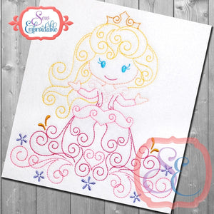 Swirly Princess 3 Embroidery Design - embroidery-boutique