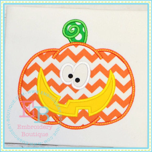 Pumpkin Face 3 Applique - embroidery-boutique