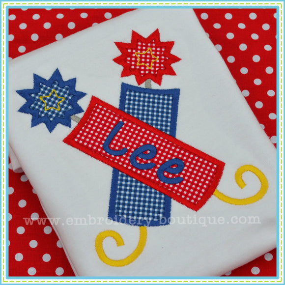 Double Firework Applique, Applique