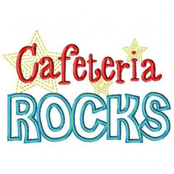 Cafeteria Rocks, Applique