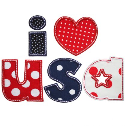 I Heart USA Applique - embroidery-boutique