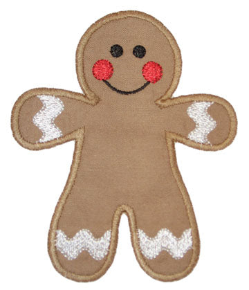 Gingerbread Applique - embroidery-boutique
