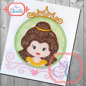 Princess Circle 5 Applique