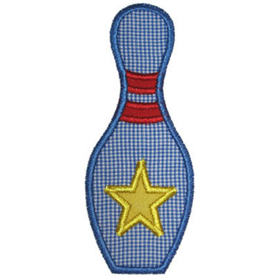 Bowling Pin Applique