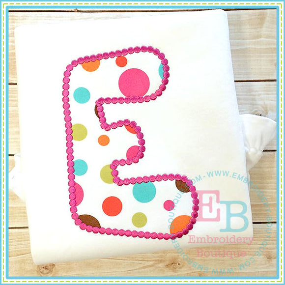 Dotted Bubblegum Applique Alphabet, Applique Alphabet