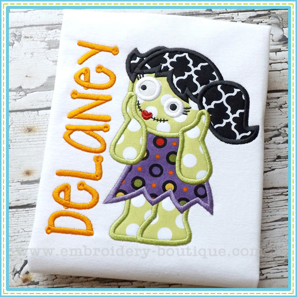 Zombie Girl Applique, Applique