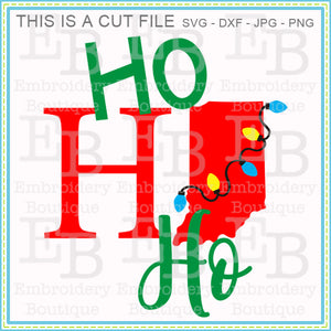 Ho Ho Ho Indiana SVG - embroidery-boutique