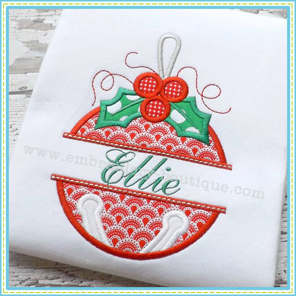 Split Jingle Bell Applique, Applique