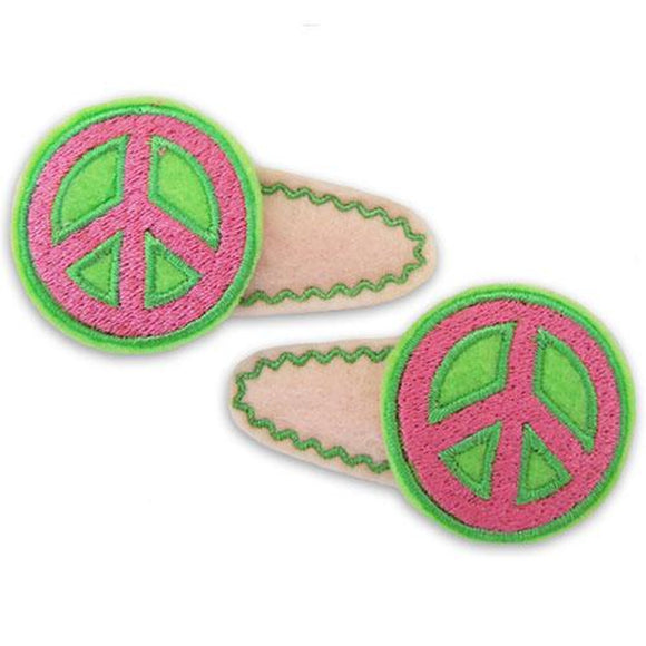Peace Sign Clip Centers, Hair Clip Centers
