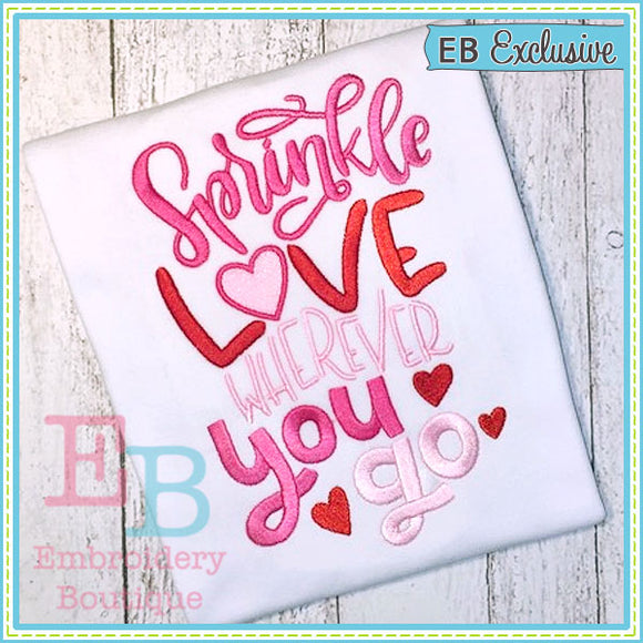 Sprinkle Love Design, Embroidery