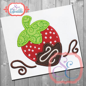 Chocolate Strawberry Applique - embroidery-boutique