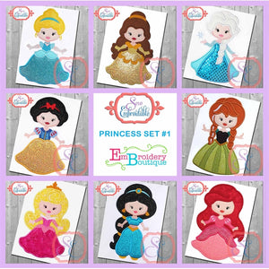 Little Princesses Set #1 (8 princesses)
