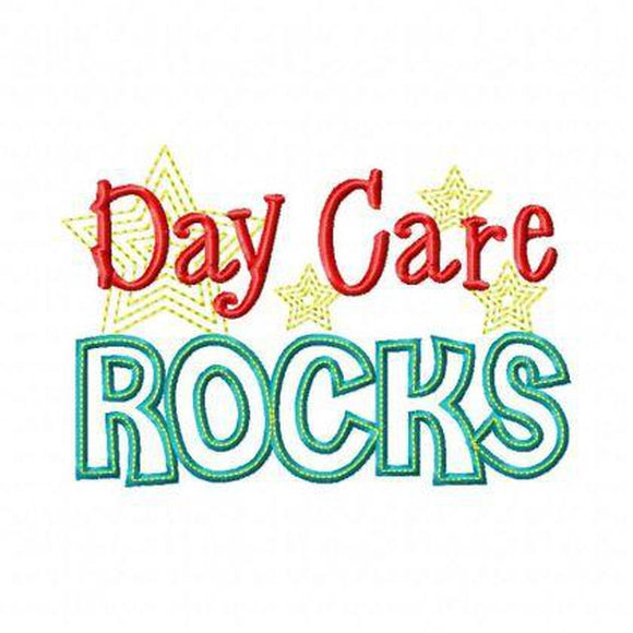 Day Care Rocks, Applique