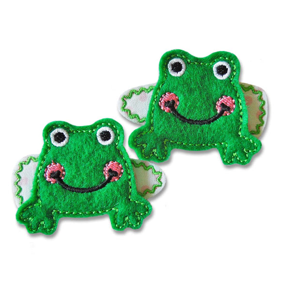 Sweet Frog Clip Centers - embroidery-boutique