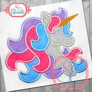 Satin Unicorn Applique, Applique