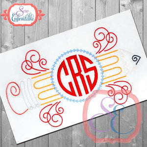 Monogram Pencil Design, Applique