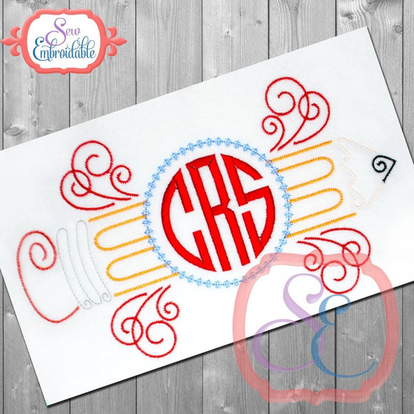 Monogram Pencil Design
