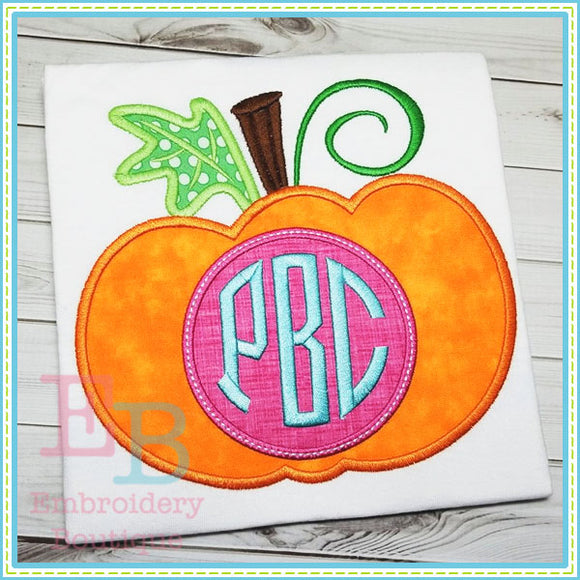 New Monogrammed Pumpkin Applique, Applique