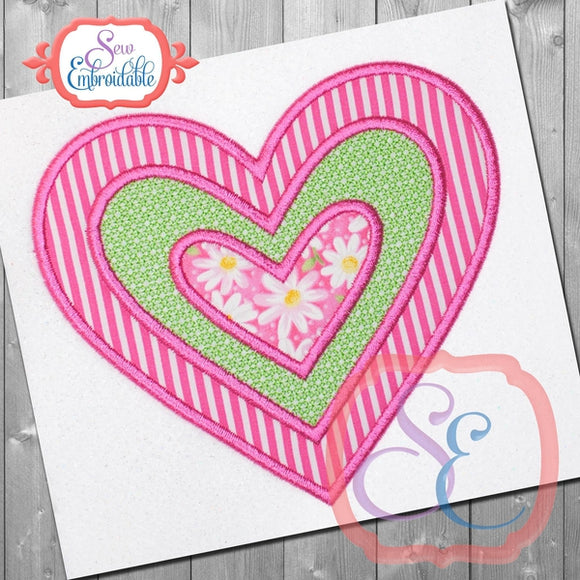 Heart Insert Motif Applique