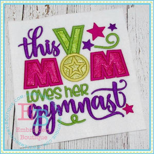 Mom Loves Gymnast Applique, Applique