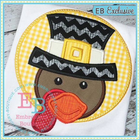 Turkey Peeker Applique - embroidery-boutique