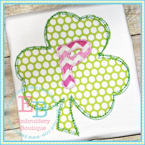 Scribble Shamrock Applique, Applique