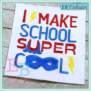 School Cool Design - embroidery-boutique