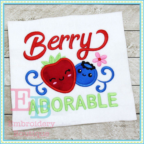 Berry Adorable Applique