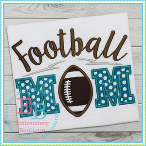 Football Mom Applique - embroidery-boutique