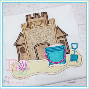 Sand Castle Applique, Applique