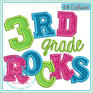 Third Grade Rocks 2 Applique