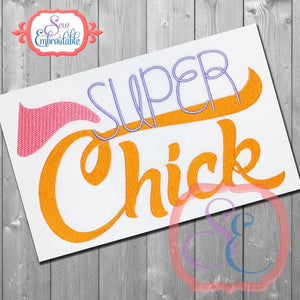 Super Chick Embroidery Design - embroidery-boutique