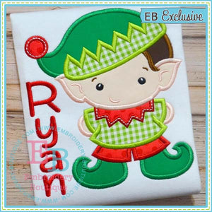 Elf Boy Applique - embroidery-boutique