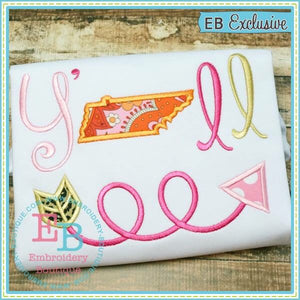 Y'all Tennessee Applique - embroidery-boutique