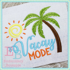 Vacay Mode Design, Embroidery
