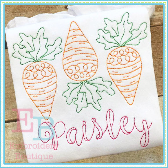 Vintage 3 Carrots Design, Applique