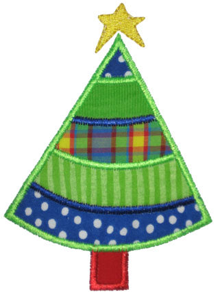Pieced Christmas Tree Applique - embroidery-boutique