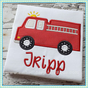 Firetruck Applique